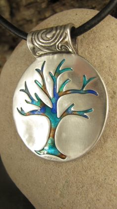The Dreaming Tree Pendant in Fine Silver and by soulharborjewelry