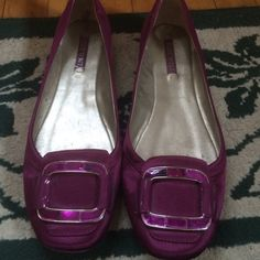 Satin flat Beautiful wine color flat with satin like finish Nine West Shoes Flats & Loafers
