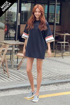 Today's Hot Pick :ラインポイントメッシュ切替ルーズTシャツ http://fashionstylep.com/SFSELFAA0025251/stylenandajp/out