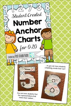STUDENT CREATED Number Anchor Charts!! My students LOVED creating these last year, and they became a valuable reference for us. $