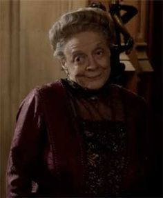 A rare Dowager smile on Downton Abbey Season 3 Episode 8