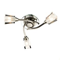 Dar AUS0346 Austin 3 Ceiling Light Satin Nickel - Home Lighting Store UK
