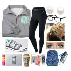 ❀FINALS WEEK IS OVER❀ by stylesbowtie on Polyvore featuring polyvore fashion style NIKE Reeds Jewelers Vera Bradley Ray-Ban
