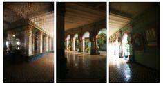 temple au travers des miroirs au Vietnam