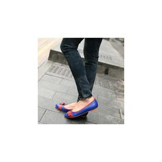 blue and red buckle flats Polka Dot Flats, Blue Flats, Color Block Shoes, What Women Want, Shoes Heels, Flat Shoes, Cute Shoes, Footwear, My Style