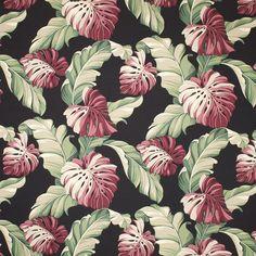 Botanical (Black) - Leaf Pattern – Diamondhead Fabrics