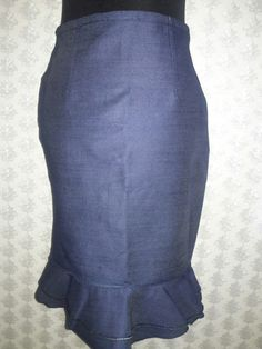 Adorable Jean skirt with double flare- Novel couture