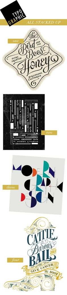 TYPO GRAPHIC- all stacked up, by kelsey of pinegate road