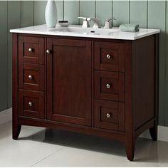 "Fairmont Designs Shaker Americana 42"" Traditional Single Sink Bathroom Vanity - Cherry 1513-V42 at $1,312.50 List Price $1,750.00 25.00% off"