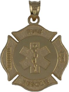 Pbs021 ss sterling silver firefighter jewelry pendant chiefs wife firefighter jewelry pbs015 10k yellow gold 1 maltese cross with rescue symbol in center aloadofball Choice Image