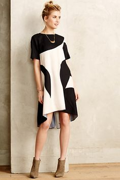 Modernity Silk Swing Dress - anthropologie.com