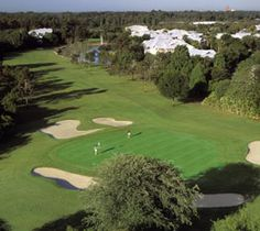 GOLF - Orlando, Florida  -  Disney's Lake Buena Vista Course, rated 4.5 Stars by Golf Digest, tropical Florida scenery, classic country club layout, fairways wind their way through pastel villas, pine forests, palmettos, sparkling lakes & other wonders of nature.