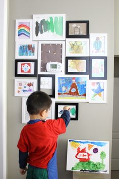 Our Montessori art environment at home -- availability, accessibility and quality of materials and equipment are important.
