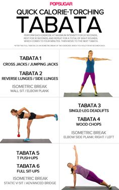 Tabata workout that hits every body part in 30 minutes. #workout #stregthtraining