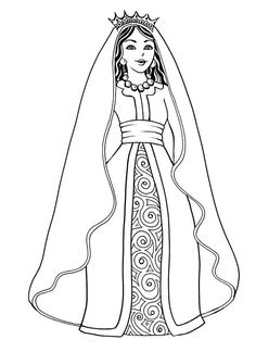 Beauty In the Bible Coloring Book Lovely Beautiful Esther the Queen In Purim Coloring Page 1 Bible Coloring Pages, Online Coloring Pages, Coloring Pages To Print, Printable Coloring Pages, Coloring Pages For Kids, Coloring Books, Ever After High, Reine Esther, Queen Esther Bible