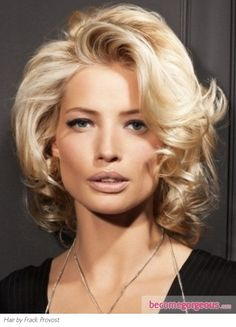 Sexy Medium Curly Hairstyle - Medium Long Hairstyles Pictures