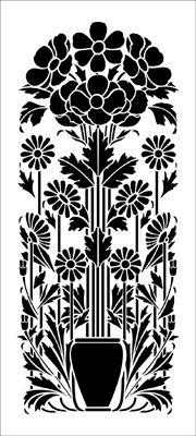 Motif No 7 stencil from The Stencil Library ARTS AND CRAFTS range. Buy stencils online. Stencil code DE115.