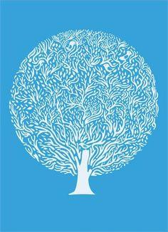 blue tree | Miscellaneous JK via Yard Gallery