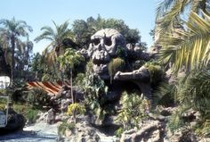 Vintage Disneyland skull rock