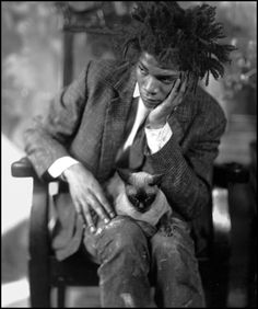 Jean-Michel Basquiat. Sucker for photos of painters in their studios. Something very beautiful going on.