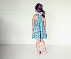 Racerback Flare Dress PDF pattern and tutorial sizes Girl Dress Patterns, Dress Making Patterns, Childrens Sewing Patterns, Clothing Patterns, Little Girl Dresses, Girls Dresses, Summer Dresses, Cali, Girls Sleepwear