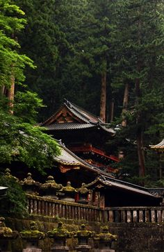 A retreat into a Japanese temple in the mountains.