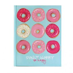 Hard Cover Journal by Sweet Caroline Designs // Shop now: http://sweetcarolinedesigns.com/shop/donut-worry/