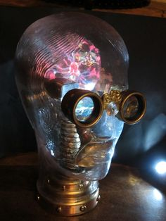 The Steampunk Mind is a kinetic sculpture by Will Rockwell based on a vintage life sized glass head. The head contains a plasma brain, vidicon tubes ...