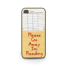 Library Card Phone Case - Reader Gift iPhone 6 - Library Book iPhone 5s Due Date Phone Case - Library Checkout Card iPhone 5c Phone Case