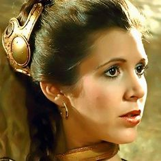 Carrie Fisher ( 1956 - 2016) as Princess Leia #starwars........CARRIE FISHER fainted aboard a plane on Dec 23, 2016 because of a Heart Attack but Died later on Dec. 27, 2016 at the age of 60..............SO SAD SHE WAS GONE BEFORE HER TIME.