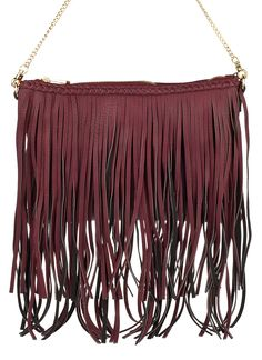 Shop Prima Donna - Frisky Fringe Crossbody Burgundy