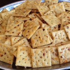 Cajun Crackers - I used oyster crackers. Went over very well with my guests. Definitely have a little kick to them