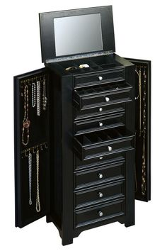 Oxford Jewelry Armoire I - Jewelry Armoires - Bedroom Furniture - Furniture   HomeDecorators.com