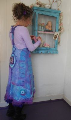felted dress by Rozevilterije http://www.facebook.com/AtelierRozevilterije
