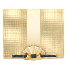 Gold, Sapphire and Diamond Compact, Cartier, c. 1940