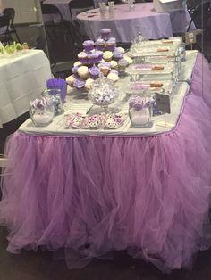 Tutu Table Table Cloth! #LavenderShowers #Tulle