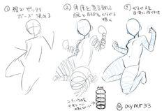 """""""息抜きに講座もどき。たまにやる腕とか脚とかの描き方です。"""""""