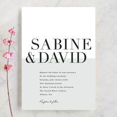 """So Fresh"" - Preppy, Modern Wedding Invitations in Mint by Stacey Meacham."
