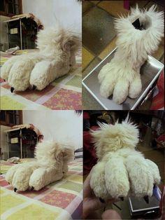 deviantART: More Like Kerrie Fursuit Feet WIP by ~TerraFurs