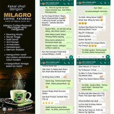 Hi coffee lover! Many coffee addicted love to drink coffee more than once a day and sometimes there is people who can't live without a cup of coffee a day. But then the one who suffered Diabetes usually need a best solution for their coffee addiction.  Have you heard Milagro Coffee? Milagro Coffee have the best solution for diabetic coffee addict where the ingredients in the coffee can helps to control and avoid diabetes.  Milagro Coffee is made from the finest Arabica coffee beans premixed…