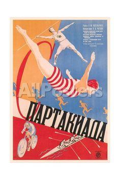 Russian Athletes Film Poster Movies Art Print - 41 x 61 cm
