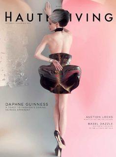 Daphne Guinness For Roger Dubuis in Haute Living magazine.