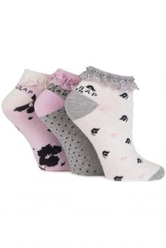 Firetrap Floral, Striped and Spotty Cotton Trainer Socks £5.00