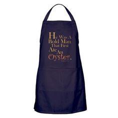 Oyster Apron (Dark). Pricing & details at, http://www.cafepress.com/splashinghoney.1211108561