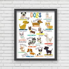 With an effortless modern style, Lucy Darling offers a high-quality dog themed art print designed to help celebrate the darling moments of a baby's life. • Perfect Nursery Wall Decor! • Great baby sho