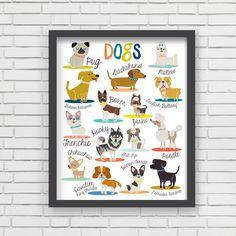 I Love Dogs! Art Print