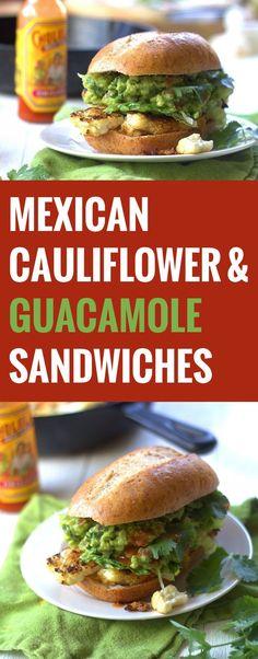 Mexican Cauliflower Steak and Guacamole Sandwiches