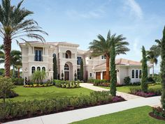 Villa Lago at Bellaria: luxury new homes in Windermere, FL Florida Homes For Sale, New Homes For Sale, Dream Home Design, House Design, Luxury Homes Dream Houses, New Home Communities, Mediterranean Homes, Tuscan Homes, Mediterranean Architecture