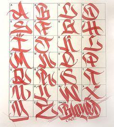 Graffiti Letters: 61 graffiti artists share their styles - Graffiti - Typography Graffiti Alphabet Styles, Graffiti Lettering Alphabet, Tattoo Fonts Alphabet, Chicano Lettering, Graffiti Writing, Graffiti Font, Graffiti Styles, Graffiti Artists, Typography