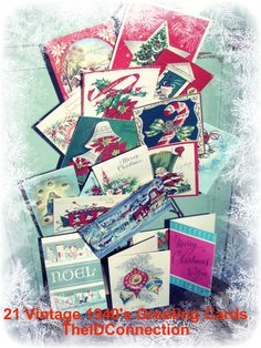 Vintage Christmas Greeting Cards Holiday by TheIDconnection, $6.00